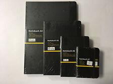 Idena Notizbuch schwarz kariert  A7,  A6 , A5 und A4 192 Seiten