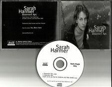 SARAH HARMER Basement apt w/ RARE RADIO REMIX PROMO DJ CD Single 2000