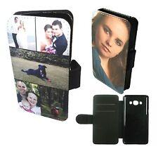 Personalizzata personalizzato stampato Phone Wallet caso collage Cover Samsung J5 (2016)