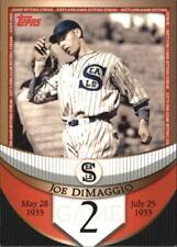 2007 Topps DiMaggio Streak Before the Streak - Finish Your Set - WE COMBINE S/H