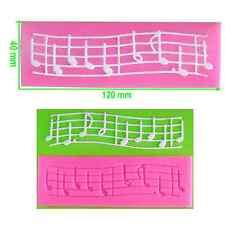 Notes musicales de personnel dentelle gaufrage moule / mat par fairie bénédictions