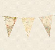 hecho a Mano Guirnalda/Guirnalda - Feliz Cumpleaños - VINTAGE / Shabby