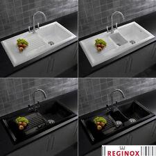 black ceramic kitchen sinks without taps for sale ebay rh ebay co uk