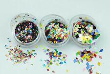 Chunky Diamond Shape Festival Glitter Pots Face Eye Dance Clubbing MUA