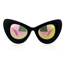 Super Oversized Cateye Sunglasses Cat Womens Fashion Mirror Lens UV 400