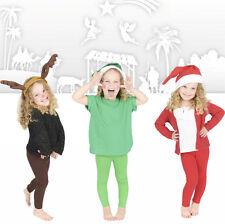 Childrens Pleine Longueur Leggings Enfants Nativité Noël