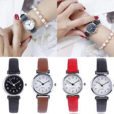 Fashion Women's Casual Quartz Leather Band Strap Watch Round Analog Wrist Watch