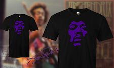 Jimi Hendrix – Voodoo Chile – Purple Face - T-Shirt / t shirt Black