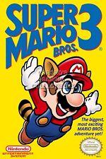 RGC Huge Poster - Super Mario Bros. 3 BOX ART Original Nintendo NES - MAR006