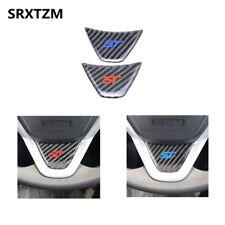 ST Steering Wheel Carbon Fiber Sticker Decoration Trim For Ford Fiesta Ecosport