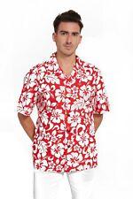 Hawaii Hangover Men's Hawaiian Shirt Aloha Shirt Classic Hibiscus Red Floral