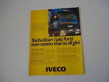 advertising Pubblicità 1986 IVECO TURBOSTAR