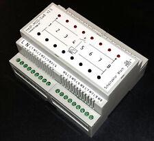 Schaltaktor 8-fach mit 230Vac Tastereingang für Homematic IP (HmIP-MOD-OC8)