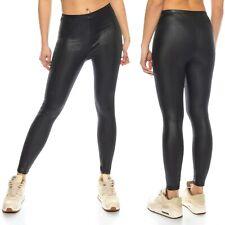 Gothic Leggings fessure Wet-Look Leggings EFFETTO PELLE legging lucentezza 36-40