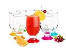 6 bicchieri 270ml bicchieri di succo SET BICCHIERI BICCHIERE VETRO 13 VARIANTI