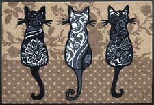 wash+dry Fußmatte Katzenbande waschbare Schmutzmatte robuste Fußmatte Matte