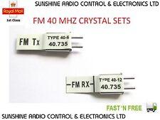 Futaba Compatible FM 40 MHz Cristales Receptor Y Transmisor & Tx Xtal caso Nuevo