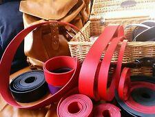 """Correa de Cuero Rojo 3mm Leather Craft 50"""" largo ancho de banda de realizar cualquier"""