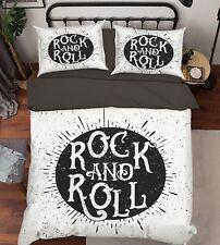 3D rock and roll 683 lit d'oreiller couette parure de lit simple Roi Royaume-Uni Été