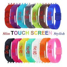Digital tira de LED de Pantalla Táctil Reloj De Pulsera Slim Anillo para chicos chicas Hombres Mujeres