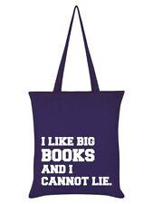 I Like Big Books And I Cannot Lie Purple Tote Bag