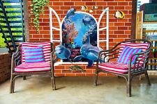 3D Dolphin, fish 456 Wall Murals Wallpaper Decal Decor Home Kids Nursery Mural