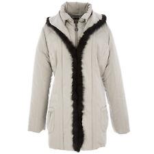 PERTE by Krizia Champagne Fur Trim Nordico Urbano Parka F439H05143 $673 NWT