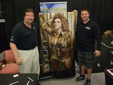 Mickie James Signed 3x5 TNA Impact Wrestling Banner PSA/DNA COA HUGE Auto'd WWE