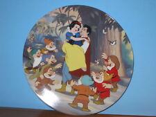 Knowles Disney Snow White Fireside Love Story Plate MIB