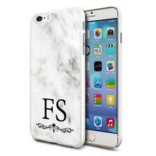 personnalisé marbre étui de téléphone pour apple Samsung Initiale Texte Nom - 26