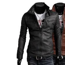 Giacca Giubbotto in Pelle Uomo Men Leather Jacket Veste Blouson Homme Cuir N9n