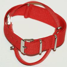 Red  Nato / Nylon Watch Strap : 18mm, 20mm, 22mm or 24mm (FL12)