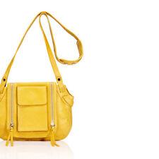 TREESJE Trend Crossbody Mustard Leather Handbag, Tote, Hobo,Clutch