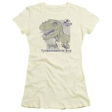 Jurassic Park Dinosaur Action Film Spielberg Retro Rex Juniors Sheer T-Shirt Tee