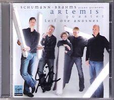 Leif Ove ANDSNES Signed BRAHMS SCHUMANN Piano Quintet ARTEMIS QUARTET CD
