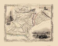 Old Asia Map - Afghanistan, Iran, Pakistan - Tallis 1851 - 23 x 28.83