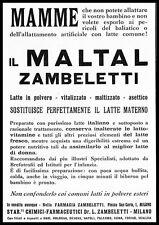 LATTE IN POLVERE MALTAL FARMACIA ZAMBLETTI MILANO MAMME 1922