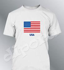 Tee shirt drapeau Americain homme Etats Unis flag USA America United States