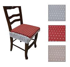 Cuscino coppia coprisedia con elastico sedia cuoricino rosso grigio beige Lovely