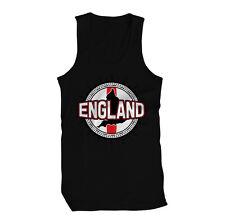 England Country Silhouette London British Football B&W ENG Mens Tank Top