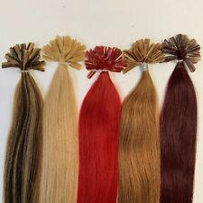 "9A U Nail Tip Keratin Pre Bonded 100% Remy Human Hair Straight 16""-24"""