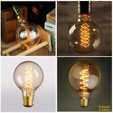 Vintage Retro Industrial Edison Style G80/G95 Spiral Filament Light Bulb E27/B22