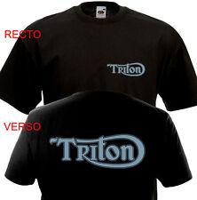 T-shirt TRITON - Triumph Norton Vintage Custom Motorcycle British Cafe Racer BSA