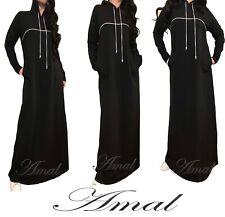 ❤️AMAL Muslim Dress Maxi Long Sleeves Islamic Hijab Knitwear USA Kaftan