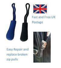 ZIP trazione di ricambio rotto Fastener Zipper Valigia Borsa Tenda Cappotto Nero