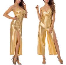 Tuta Tutina Intera da Donna Pantalone Vestito Jumpsuit Festa Ballo Costume Danza