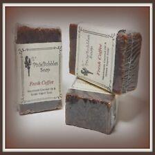 PixieBubbles Soap COFFEE Handmade Coconut Oil & Greek Yogurt Shea Butter Soap