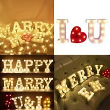 3DBeleuchtete LED Leuchtbuchstaben Alphabet Nachtlicht Party Hochzeit Dekoration