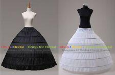 6HOOP Ball Gown Bridal Wedding Crinoline Petticoat Slips Super Full High Quality