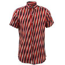 Camisa Hombre Loud Originals Ajustado Art Decó Rojo Retro Psicodélico Elegante